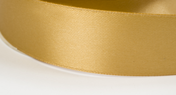 Satinband 12mm breit goldbeige