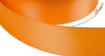 satinband double face 6mm farbe orange