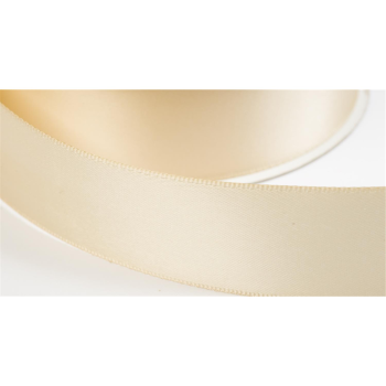 satinband double face 12mm farbe beige