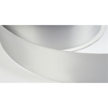 satinband double face 12mm farbe silber
