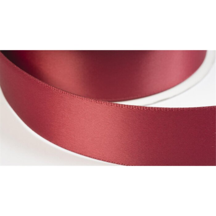 satinband double face 19mm farbe dunkelrot