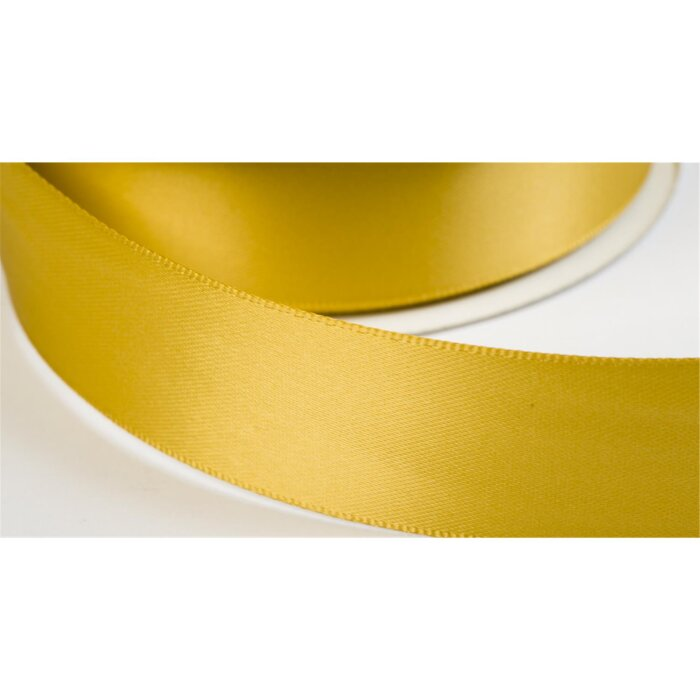 satinband double face 19mm farbe gelbgold