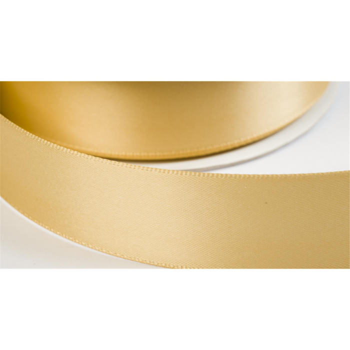 satinband double face 19mm farbe goldbeige