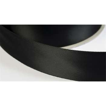 satinband double face 19mm farbe schwarz