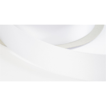 satinband double face 25mm farbe weiss