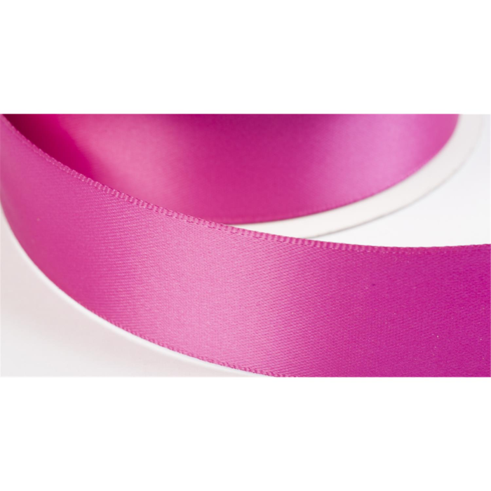 satinband double face 25mm farbe magenta