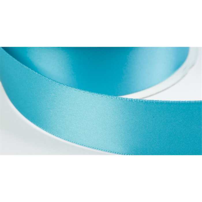 satinband double face 25mm farbe tuerkisblau