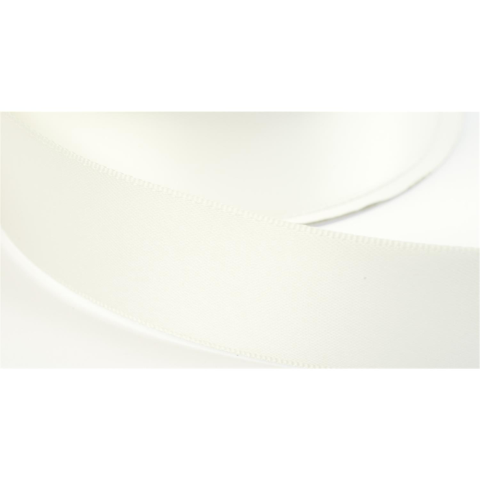 satinband double face 38mm farbe creme