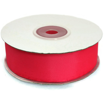 Ripsband 25mm breit, 20 Meter lang, Farbe: pink-himbeere #12
